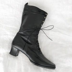 Steampunk Lace-Up Boots
